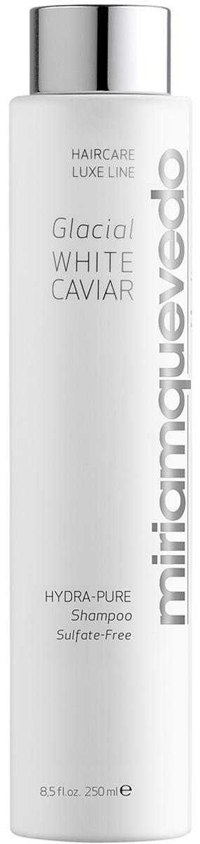Miriam Quevedo Увлажняющий шампунь с экстрактом прозрачно-белой икры (Glacial White Caviar Hydra-Pure Shampoo) 250 мл8437011863775Miriam Quevedo Glacial White Caviar Hydra-Pure Shampoo Увлажняющий шампунь с экстрактом прозрачно-белой икры создает долговременное увлажнение, восстановление структуры волос. Эффективно воздействует на волосы, повергшиеся влиянию окружающей среды, ультрафиолетовому воздействию, а также после процедур в виде окрашивания и выпрямления. Входящий в состав экстракт икры, ценного косметического компонента, содержит микроэлементы, воздействующие на волосы как регенерирующее и восстанавливающее средство. Применение придает эластичность, силу, здоровый блеск. В состав шампуня не входят фосфаты, сульфаты и прочие химические компоненты, негативно влияющие на поверхность волос и кожи головы. Подходит для чувствительных кожи и волос, любящих контакт с естественными продуктами. Натуральное, эффективное средство является антиоксидантом, благотворно влияющим на волосы. Позволяет сохранить цвет окрашенных волос, возможно применение шампуня непосредственно после окраски. Нежное очищение волос не приводит к сухости благодаря богатому комплексу из экстракта белой икры, эдельвейса, хлопка, риса, масла баобаба. Придает волосам шелковистость и упругость.