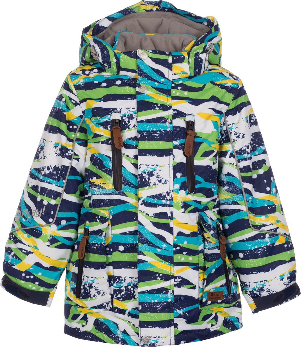 Куртка для мальчика atPlay!, цвет: синий. 2jk733. Размер 1102jk733Куртка-парка от atPlay! для повседневных зимних прогулок, а также активного отдыха на природе в морозный зимний день. Парка выполнена из мембранной ткани и легкого современного утеплителя. Благодаря такому сочетанию тканей, куртка легкая, но при этом теплая. Ткань верха в сочетании с дышащими свойствами мембраны 10000/10000 защищает от мокрого снега и от ветра снаружи, хорошо отводит влагу от тела, поэтому подходит для высокой активности. Самый технологичный на сегодняшний день утеплитель Thinsulate сохранит тепло в 3 раза лучше по сравнению с другими видами утеплителей. Ткань с грязе- водоотталкивающей пропиткой , даже при длительных прогулках не намокнет, тем самым доставляя ребенку комфорт и желание познавать новый мир во всей своей красе.