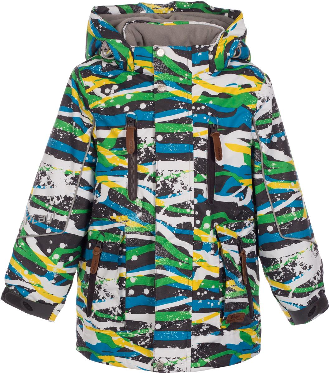 Куртка для мальчика atPlay!, цвет: серый. 2jk733. Размер 1042jk733Куртка-парка от atPlay! для повседневных зимних прогулок, а также активного отдыха на природе в морозный зимний день. Парка выполнена из мембранной ткани и легкого современного утеплителя. Благодаря такому сочетанию тканей, куртка легкая, но при этом теплая. Ткань верха в сочетании с дышащими свойствами мембраны 10000/10000 защищает от мокрого снега и от ветра снаружи, хорошо отводит влагу от тела, поэтому подходит для высокой активности. Самый технологичный на сегодняшний день утеплитель Thinsulate сохранит тепло в 3 раза лучше по сравнению с другими видами утеплителей. Ткань с грязе- водоотталкивающей пропиткой , даже при длительных прогулках не намокнет, тем самым доставляя ребенку комфорт и желание познавать новый мир во всей своей красе.