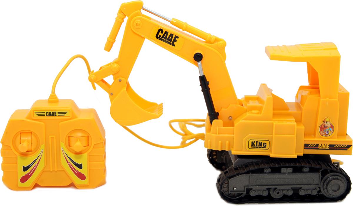 Balbi Экскаватор гусеничный на дистанционном управлении цвет желтый balbi balbi машинка на радиоуправлении внедорожник crawler 6х6 1 8 синий