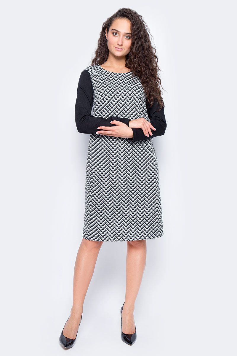 Платье Finn Flare, цвет: черный. W17-11036R_200. Размер M (46) платье finn flare цвет черный