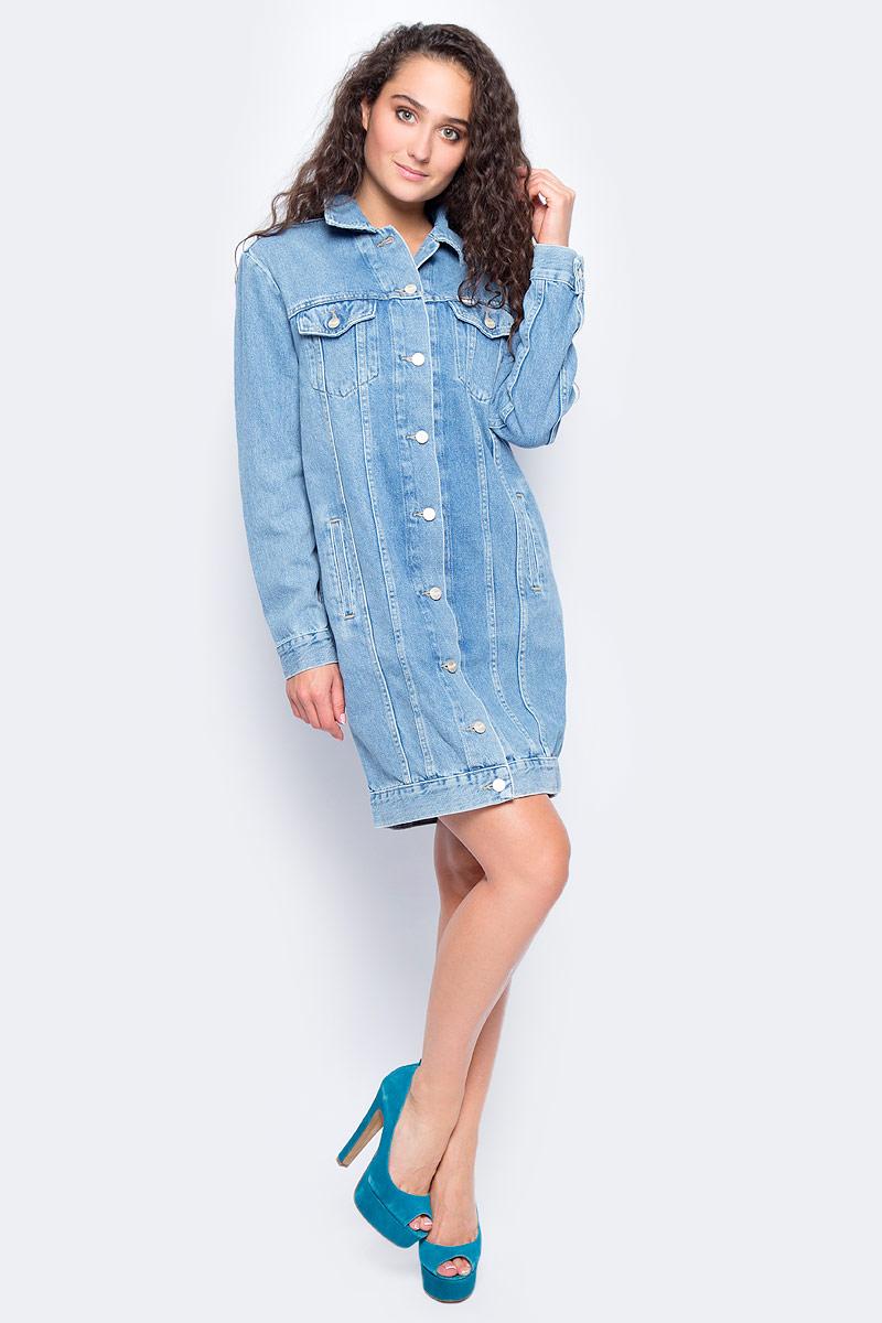 Платье жен Wrangler, цвет: синий. W236BG96V. Размер S (42)W236BG96V