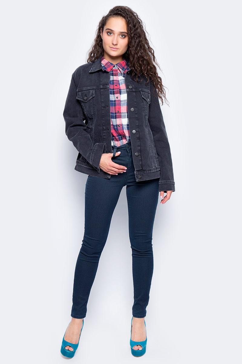 Куртка жен Wrangler, цвет: синий. W4070999S. Размер S (42) футболка жен wrangler цвет белый w7350ev12 размер xs 40