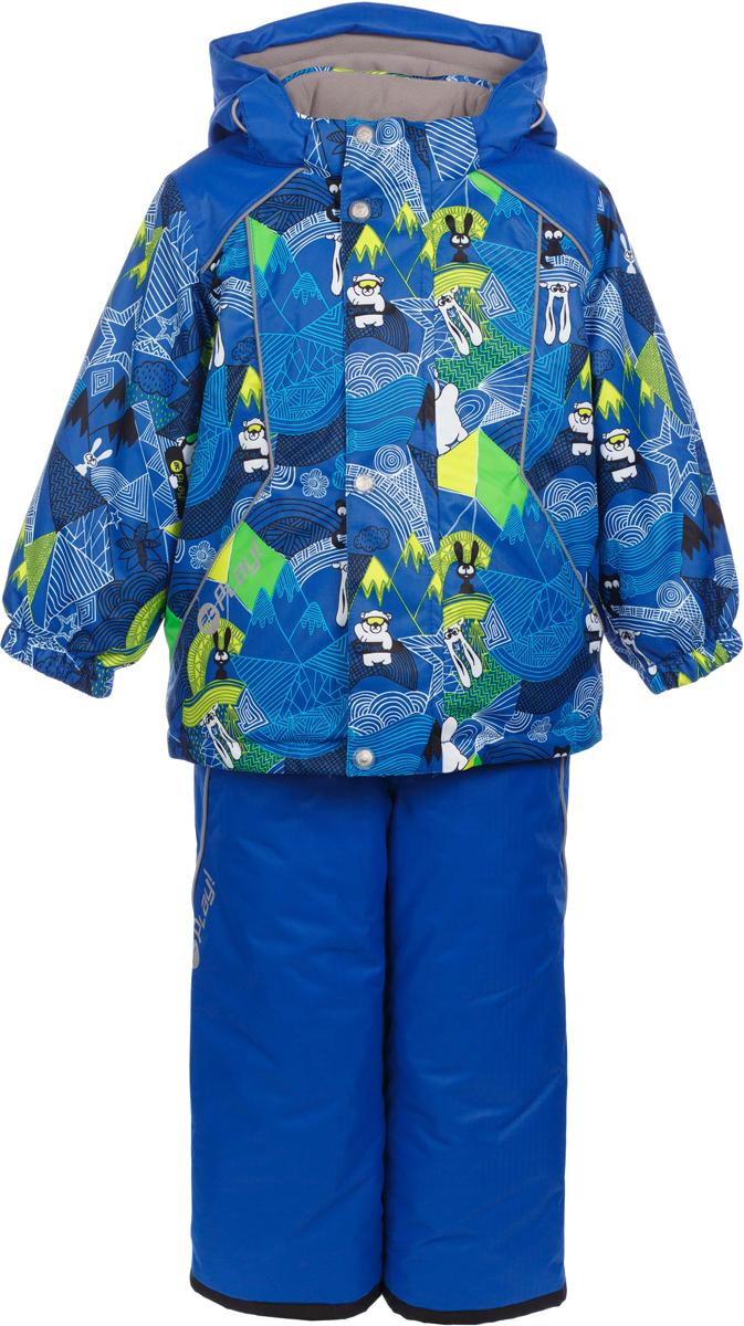 Комплект верхней одежды для мальчика atPlay!: куртка, полукомбинезон, цвет: голубой. 2su731. Размер 922su731Зимний костюм для мальчика от atPlay! – это удобная куртка и полукомбинезон. В нем не страшны самые лютые морозы! Все швы проклеены, по низу куртки – утяжка, так что никакой мороз не проберется внутрь. Комплект выполнена из мембранной ткани, хорошо защищающей от мокрого снега, порывов ветра и резкой смены погоды. Благодаря дышащими свойствам мембраны 10000/10000, хорошо отводит влагу от тела, поэтому, даже после самых активных прогулок и игр на свежем зимнем воздухе, ребенок останется сухой и совсем не замерзнет. В костюме atPlay! используется утеплитель нового поколения Thinsulate. Он легкий и тонкий, благодаря чему удается избежать лишнего веса и объема, но его уникальные характеристики позволяют сохранять тепло в 3 раза лучше по сравнению с другими видами утеплителей. Благодаря яркой расцветке вы не потеряете из виду своего ребенка. А все свойства, присущие мембранной одежде, позволят наслаждаться зимними прогулками даже в самую морозную погоду.