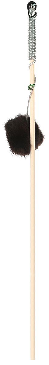 Дразнилка-удочка для кошек GoSi Пушистик из норки, длина 50 см дразнилка удочка для кошек gosi мышиные хвосты длина 50 см