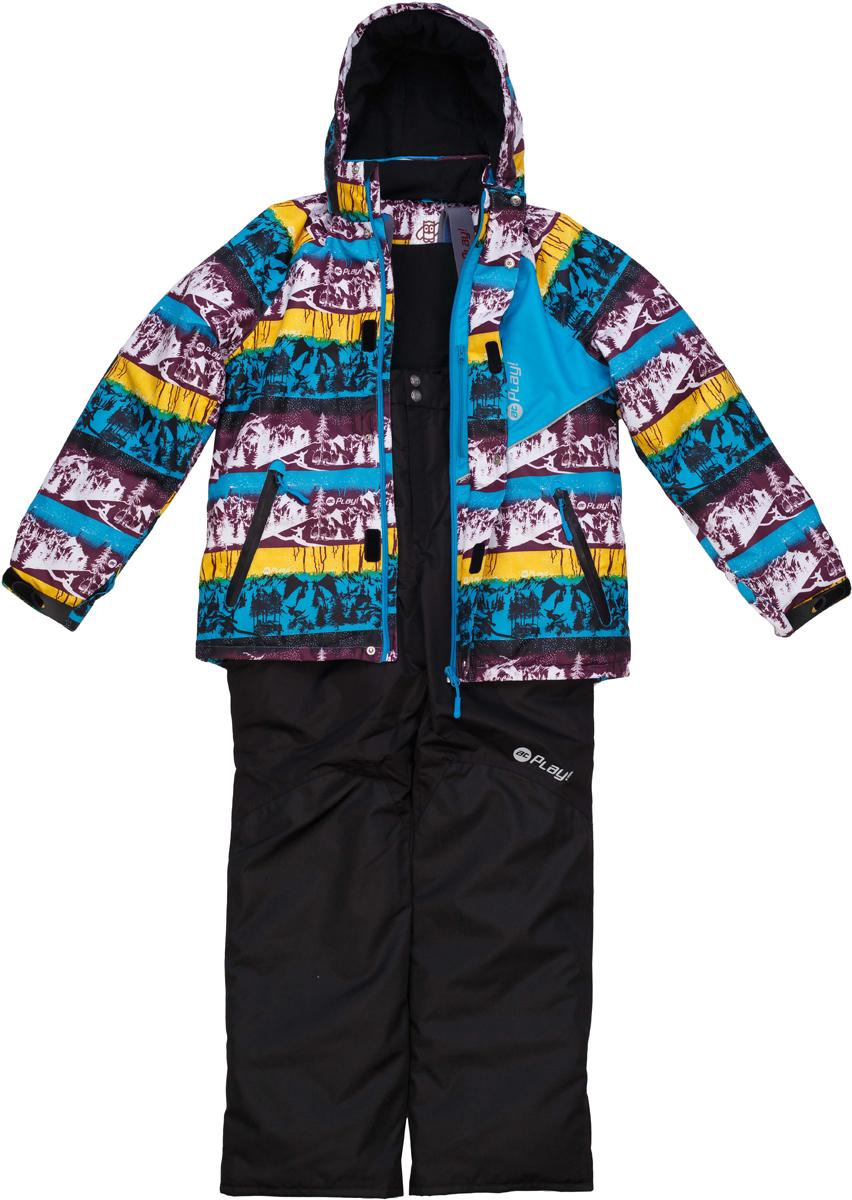 Комплект верхней одежды для мальчика atPlay!: куртка, полукомбинезон, цвет: голубой. 2su736. Размер 1462su736Зимний костюм для мальчика от atPlay!, состоящий из куртки и полукомбинезона, отвечает всем требованиям современной технологичной верхней одежды. Ребенок в таком костюме будет чувствовать себя в безопасности, защищенным от перегрева и переохлаждения, промозглого ветра и мокрого снега. Мембранная ткань с показателями 10000/10000, хорошо отводит влагу от тела, поэтому, даже после самых активных прогулок, ребенок останется сухой и совсем не замерзнет. Внешний слой ткани обладает грязе- и водоотталкивающей способностью за счет покрытия Teflon. В костюме atPlay! используется утеплитель нового поколения Thinsulate. Он легкий и тонкий, благодаря чему удается избежать лишнего веса и объема, но его уникальные характеристики позволяют сохранять тепло в 3 раза лучше по сравнению с другими видами утеплителей. Важную роль в костюме atPlay! играют очень полезные и продуманные детали одежды, такие как противоснежные юбки, ветрозащитные планки, проклеенные швы, эластичные манжеты на рукавах, штрипки, удерживающие брючину внизу, светоотражающие элементы. Благодаря этим важным элементам костюм atPlay! станет идеальным выбором и для неспешных походов в парк, и для самых увлекательных и очень активных прогулок.