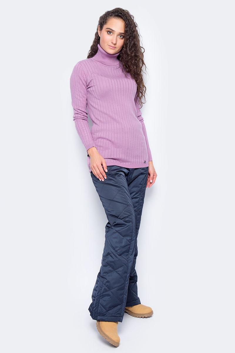 Свитер женский Finn Flare, цвет: лиловый. W17-11107_818. Размер XL (50) лонгслив женский finn flare цвет белый b17 11047 201 размер xl 50