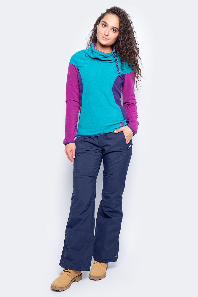 Толстовка женская ONeill Pw Oneill Fleece, цвет: бирюзовый. 7P5221-5042. Размер M (46/48)7P5221-5042Женская толстовка от ONeill выполнена из флиса. Модель с длинными рукавами и широким воротником стойкой. Воротник дополнен затягивающимся шнурком со стоппером.