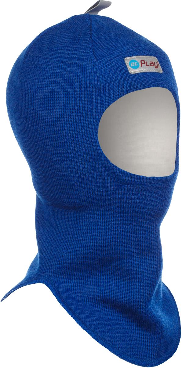 Шапка-шлем детская atPlay!, цвет: голубой. 3hel770. Размер 50/523hel770Детская шапка-шлем от atPlay! обеспечит максимальную защиту головы и шеи ребенка при сильном ветре или морозе. Она плотно прилегает к голове, прикрывая уши, лоб и подбородок. Области лба и ушей утеплены дополнительно. Подкладка выполнена из мягкой хлопковой ткани, не вызывающей раздражений на нежной коже ребенка.