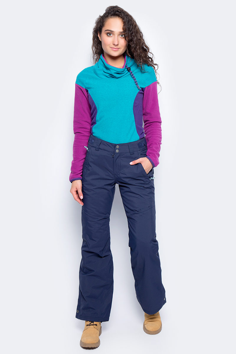 Брюки утепленные женские ONeill Pw Raivac Pant, цвет: синий. 7P8612-5056. Размер L (48/50)7P8612-5056Утепленные брюки от ONeill с наполнителем выполнены из высококачественного плотного материала. Модель в поясе застегивается на кнопки и имеет ширинку на молнии. По бокам модель дополнена втачными карманами на молниях, сзади – прорезным карманом.