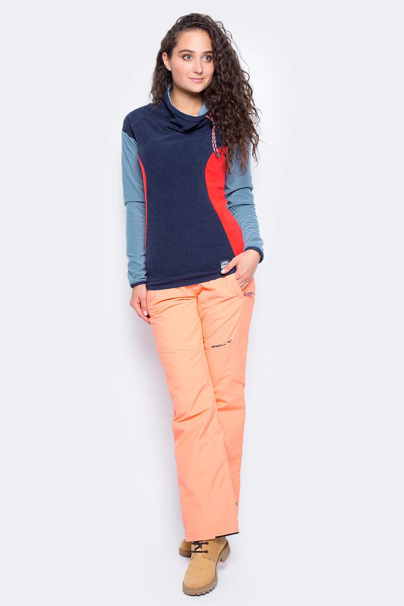Толстовка женская ONeill Pw Oneill Fleece, цвет: темно-синий. 7P5221-5056. Размер XS (42/44)7P5221-5056Женская толстовка от ONeill выполнена из флиса. Модель с длинными рукавами и широким воротником стойкой. Воротник дополнен затягивающимся шнурком со стоппером.