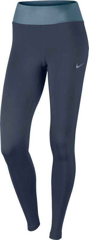 Тайтсы женские Nike Nk Pwr Essntl Tght Df, цвет: синий. 831659-471. Размер M (46/48)831659-471Женские беговые тайтсы Nike Power Essential делают пробежку более энергичной благодаря плотной, поддерживающей посадке и полноразмерной конструкции. Влагоотводящая технология и регулируемый пояс — все, что нужно, чтобы чувствовать себя комфортно и ставить новые рекорды. Эластичная ткань Nike Power обеспечивает компрессионную посадку и поддержку.