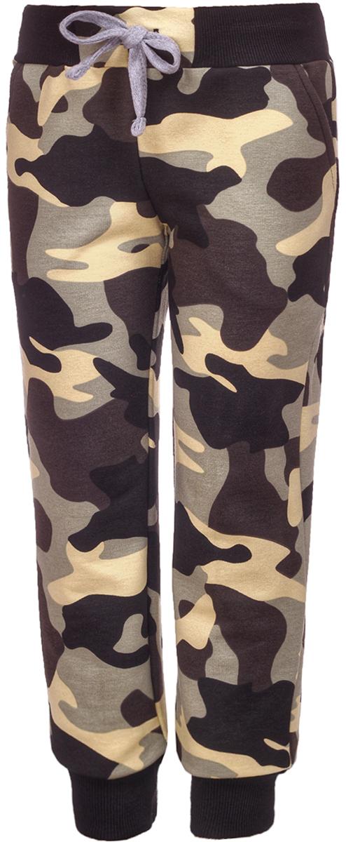 Брюки спортивные для мальчика M&D, цвет: зеленый, желтый. Б19280275. Размер 104Б19280275Спортивные брюки от M&D выполнены из эластичного хлопкового трикотажа. Модель с эластичной резинкой на талии и затягивающимся шнурком по бокам дополнена втачными карманами. По низу брючины дополнены широкими трикотажными манжетами.