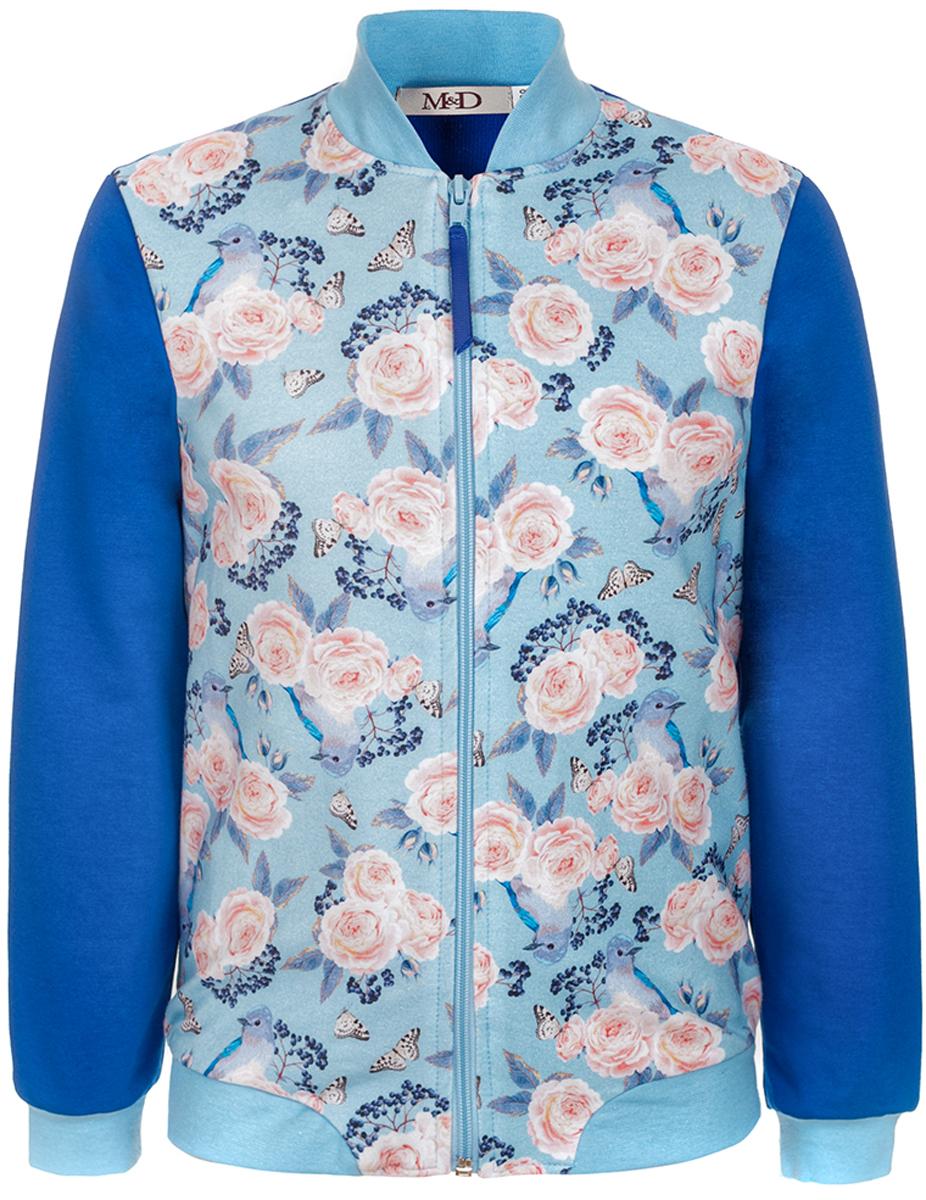 Джемпер для девочки M&D, цвет: светло-голубой. WKZ27022MS64. Размер 134WKZ27022MS64
