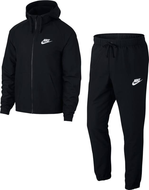 Спортивный костюм мужской Nike Nsw Trk Suit Hd Wvn, цвет: черный. 861772-013. Размер XL (52/54)861772-013Мужской спортивный костюм Nike Sportswear, состоящий из толстовки и брюк, с ярким дизайном обеспечивает невероятный комфорт. Костюм из легкого тканого материала включает яркую толстовку с капюшоном и рукавами анатомического кроя. Гладкий тканый материал создает ощущение легкости.
