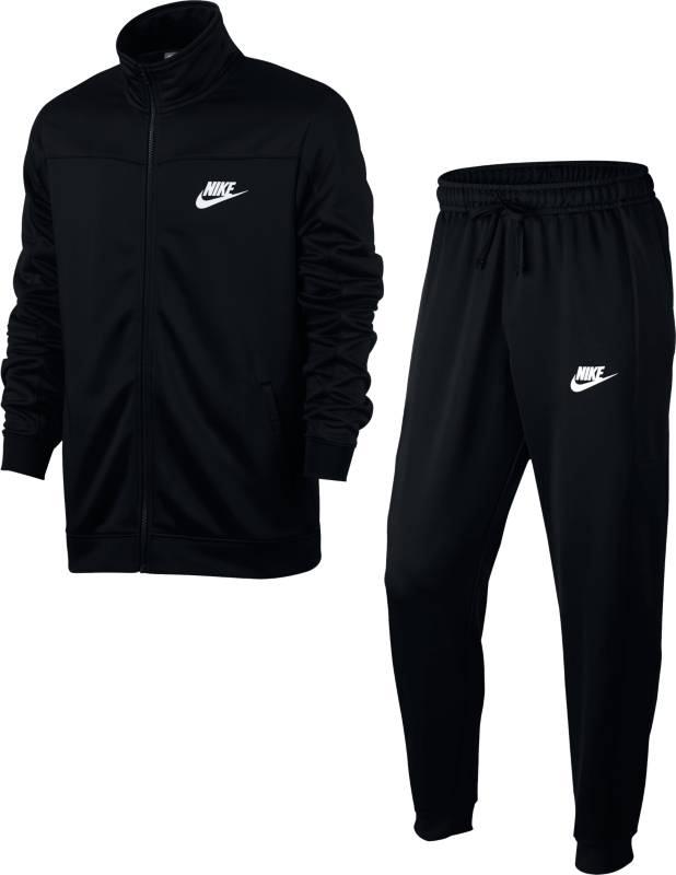 Спортивный костюм мужской Nike W Nsw Trk Suit Pk Oh, цвет: черный. 861774-010. Размер XS (42/44)861774-010Мужской спортивный костюм Nike Sportswear, состоящий из олимпийки и брюк, обеспечивает комфорт благодаря гладкой ткани в яркой расцветке, классическому крою и манжетам и отворотам из мягкого рубчатого материала. Мужской спортивный костюм Nike Sportswear обеспечивает комфорт благодаря гладкой ткани в яркой расцветке, классическому крою и манжетам и отворотам из мягкого рубчатого материала.