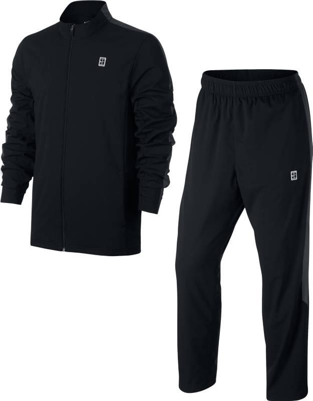 Спортивный костюм утепленный мужской Nike Nkct Woven Warm Up, цвет: черный. 899622-010. Размер S (44/46)899622-010Утепленный спортивный костюм Nike M Nkct Woven Warm Up, состоящий из олимпийки и брюк,выполнен из гладкого технологичного текстиля. Технология Dri-Fit позволяет отводить влагу с кожи на поверхность ткани, где она испаряется. Олимпийка застегивается на молнию, есть два кармана. Брюки с эластичным поясом, который дополнен шнуром, есть два боковых кармана и один карман сзади. Боковые разрезы на брюках с застежками на молнию.
