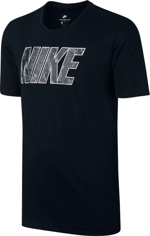 Футболка мужская Nike Nsw Tee Prnt Pk Blk, цвет: черный. 874791-010. Размер XXL (54/56)874791-010Мужская футболка Nike Sportswear из мягкого хлопка с вырезом горловины-лодочка и яркой графикой Nike на груди. Мягкая и комфортная хлопковая ткань.