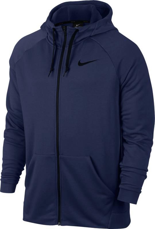 Толстовка мужская Nike Nk Dry Hoodie Fz Fleece, цвет: синий. 860465-429. Размер M (46/48)860465-429Мужская толстовка для тренинга Nike Dry с регулируемой посадкой и усовершенствованным кроем — идеальный выбор для тренировки. Ткань Nike Dry с влагоотводящей технологией отводит влагу и обеспечивает комфорт, а молния во всю длину позволяет удобно снимать и надевать модель. Ткань Nike Dry отводит влагу и обеспечивает комфорт.
