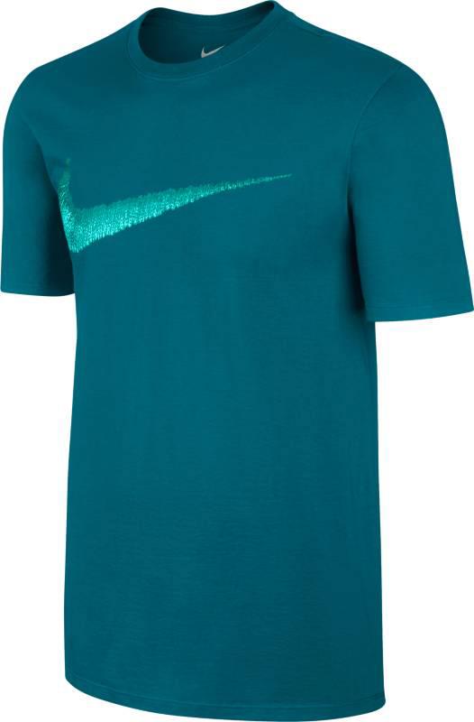 Футболка мужская Nike Swoosh T-Shirt, цвет: сине-зеленый. 707456-467. Размер L (50/52) сумка nike club team swoosh duff l nike