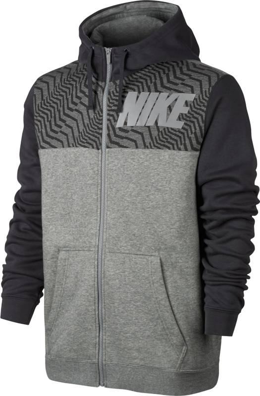 Толстовка мужская Nike Nsw Hoodie Fz Flc Gx, цвет: серый. 861722-063. Размер S (44/46)861722-063Комфортная повседневная мужская худи Nike Sportswear — это новое исполнение любимой модели из теплой флисовой ткани в ярком цветовом решении на каждый день. Мягкий и теплый флис с обратным начесом.