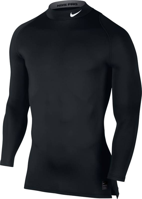 Лонгслив компресионный мужской Nike Cool Comp Ls Mk, цвет: черный. 703090-010. Размер XL (52/54)703090-010Мужской лонгслив Nike Pro Cool Compression Mock с длинным рукавом покроя реглан плотно прилегает к телу и не сковывает движения благодаря ткани, тянущейся во всех направлениях. Ткань Dri-Fit и сетка отводят влагу и обеспечивают комфорт, что гарантирует максимальную эффективность тренировки. Ткань Dri-Fit хорошо тянется во всех направлениях и отводит влагу, обеспечивая комфорт.
