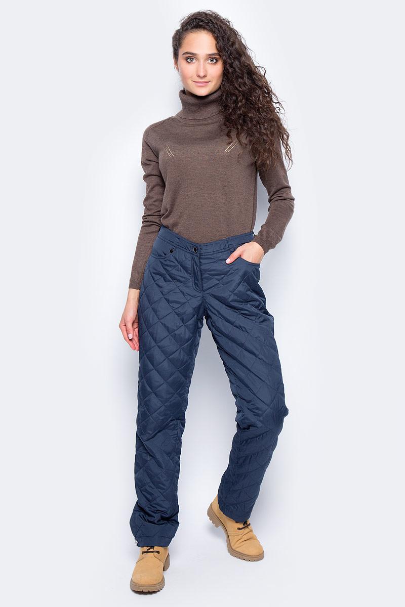 Брюки утепленные женские Finn Flare, цвет: темно-синий. W17-12017_101. Размер XL (50)W17-12017_101Утепленные брюки Finn Flare прямого кроя выполнены из износостойкого полиэстера. Брюки застегиваются на молнию и пуговицу. Спереди модель оформлена двумя втачными карманами, сзади - двумя накладными. Края брючин дополнены кнопками.