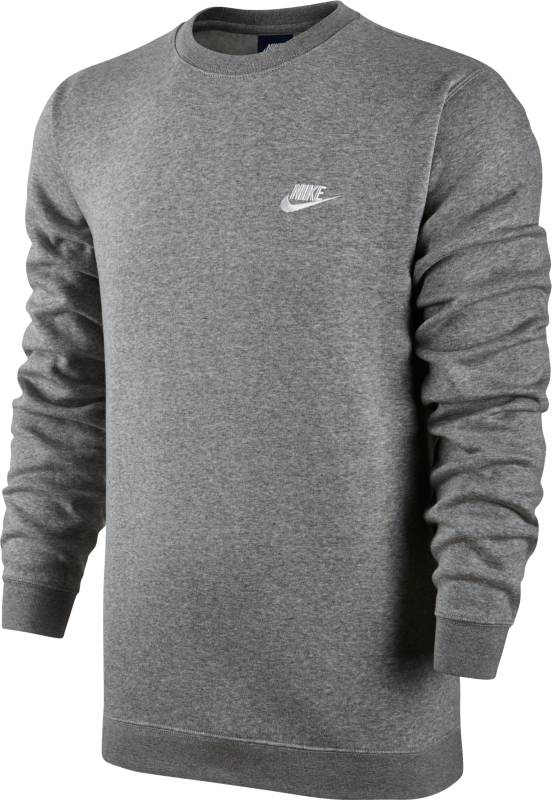 Свитшот мужской Nike Sportswear Crew, цвет: серый. 804340-063. Размер XL (52/54)804340-063Мужской свитшот Nike Sportswear обеспечивает абсолютный комфорт без утяжеления. Модель выполнена из мягкой флисовой ткани с обновленной узкой нижней кромкой и манжетами для аккуратного вида. Мягкий и теплый флис с обратным начесом.