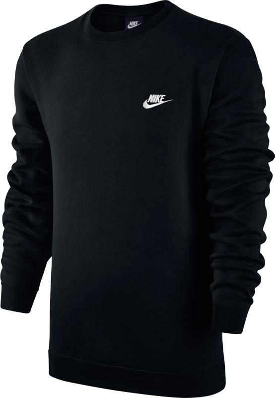 Свитшот мужской Nike Sportswear Crew, цвет: черный. 804340-010. Размер XL (52/54)804340-010Мужской свитшот Nike Sportswear обеспечивает абсолютный комфорт без утяжеления. Модель выполнена из мягкой флисовой ткани с обновленной узкой нижней кромкой и манжетами для аккуратного вида. Мягкий и теплый флис с обратным начесом.