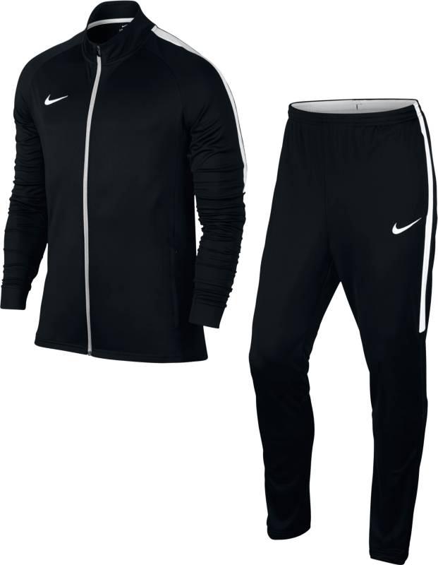 Спортивный костюм муж Nike Dry Football Tracksuit, цвет: черный. 844327-010. Размер M (46/48)844327-010Mens Nike Dry Football Tracksuit ОБЛЕГАЮЩИЙ КРОЙ, ВЫСОКАЯ СКОРОСТЬ. Мужской футбольный костюм Nike Dry создает аккуратный вид и идеально подходит для разминки перед матчем или тренировки. Ткань Nike Dry отводит влагу от кожи, а удобные боковые карманы на молнии и воротник с подкладкой из сетки позволяют полностью сконцентрироваться на спорте. Ткань Nike Dry эффективно отводит влагу от кожи.
