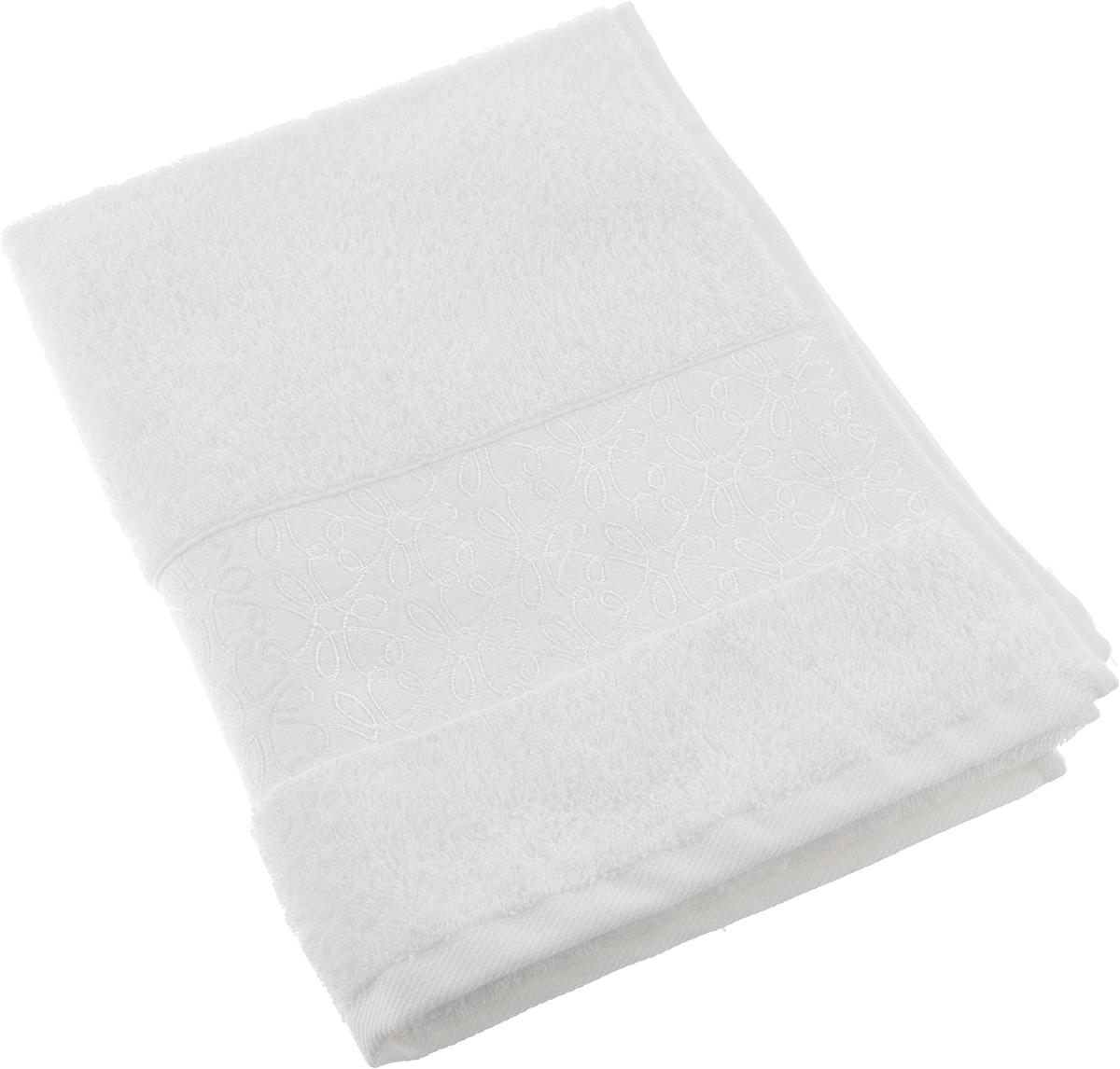 Полотенце махровое Issimo Home Perin, цвет: белый, 50 х 90 см полотенце бамбуковое issimo home valencia цвет розовый 90 x 150 см