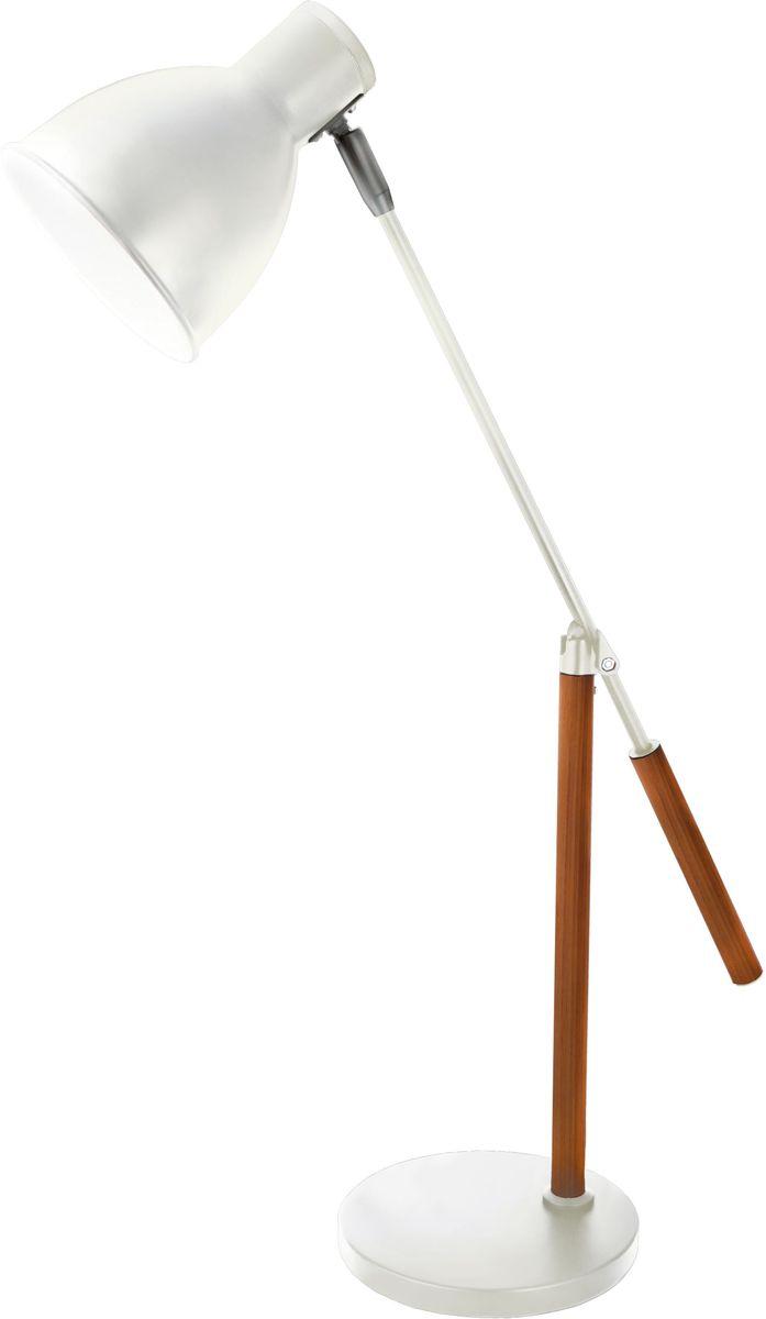 Светильник настольный Camelion Loft, цвет: белый, 40 W, 230 V, E 27. KD-333 C0112796Настольный светильник Camelion Loft - превосходное и современное решение для офиса и дома, лаконичный стильный дизайн. Изделиевыполнено в классическомдизайне с устойчивым металлическим основанием. Характеристики: Вид ламп: светодиодная, люминесцентная (энергосберегающая), накаливания. Направление света регулируется стойкой, котораяобеспечивает наклон и поворот плафона в любомнаправлении.