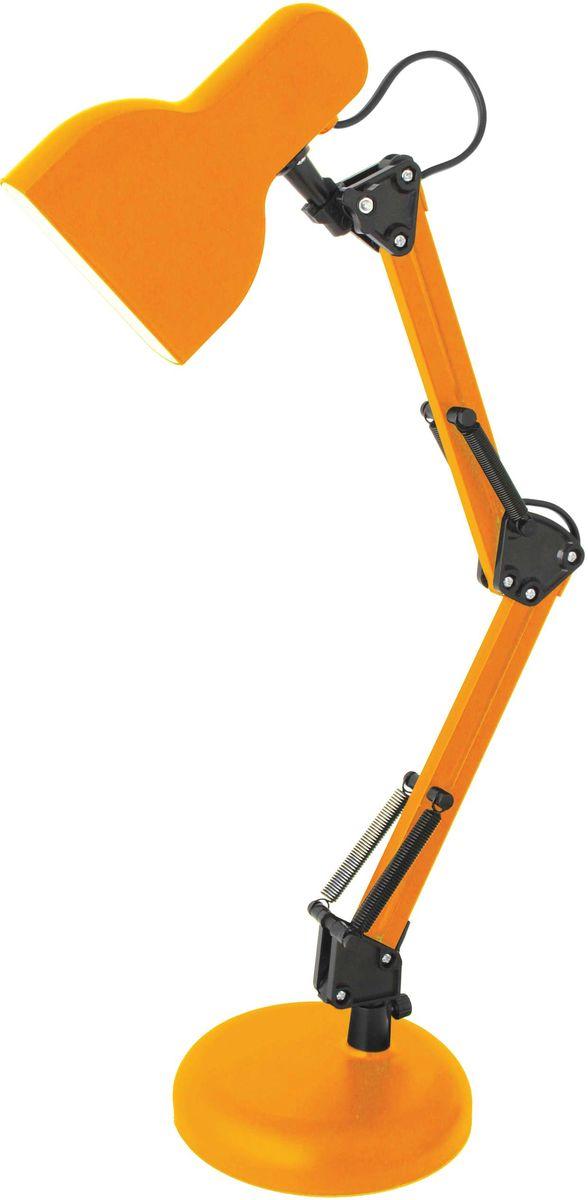 Светильник настольный Camelion Loft, светодиодный, цвет: оранжевый, 5 W, 230 V, 4000 К. KD-815 C1112849Светодиодный светильник Camelion - превосходное и современное решение для офиса и дома, лаконичный стильный дизайн. выполнено в классическомдизайне с устойчивым металлическим основанием. Характеристики: Вид ламп: светодиодная. Направление света регулируется стойкой, котораяобеспечивает наклон и поворот плафона в любомнаправлении.