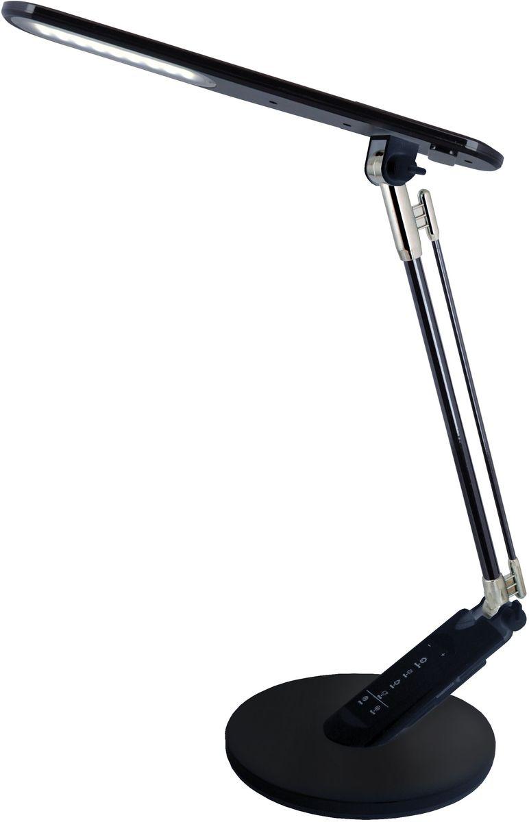 Светильник настольный Camelion Loft, светодиодный, сенсорный, цвет: черный, 8 W, 230 V. KD-816 C0212852Светодиодный сенсорный светильник Camelion - превосходное и современное решение для офиса и дома, лаконичный стильный дизайн. Изделие выполненов классическом дизайне из пластика. Характеристики: Вид ламп: светодиодная. Направление света регулируется стойкой, котораяобеспечивает наклон и поворот плафона в любомнаправлении. Сенсорная регулировочная панель в нижней части стойки. 5 уровней яркости (до 500 лм). 4 режима цветовой температуры (до 6500 К).