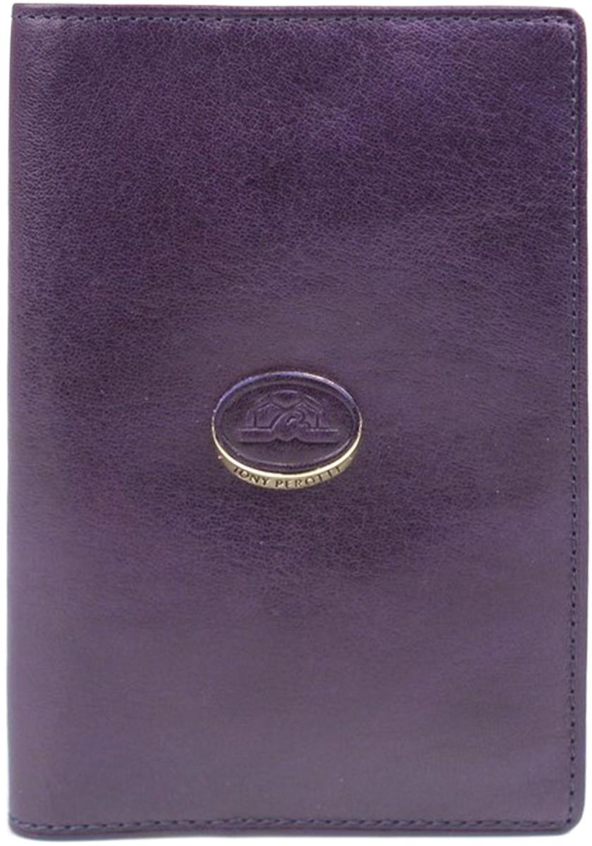 Обложка для паспорта женская Tony Perotti, цвет: синий. 993404/6993404/6Отделение для паспорта, дополнительные внутренние отделения для визиток/кредиток.