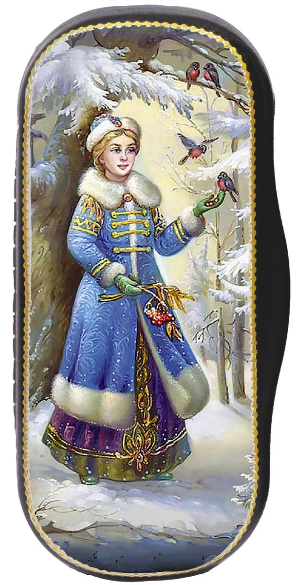 Кремлина Снегурочка конфеты вишня в шоколадной глазури в футляре для очков, 40 г националь рис длиннозерный пропаренный золотистый 900 г