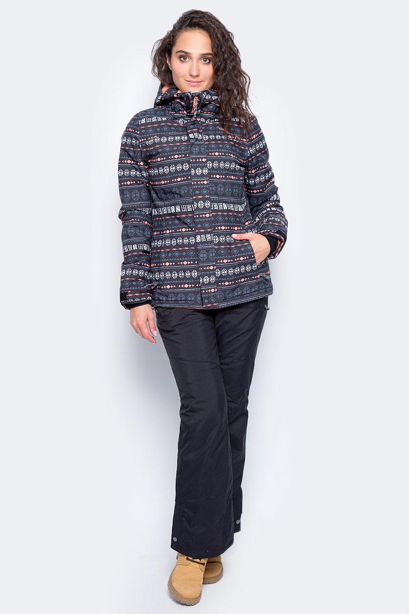 Куртка женская ONeill Pw Raivac Jacket, цвет: черный. 7P8610-9990. Размер XS (42/44)7P8610-9990Женская куртка от ONeill с утеплителем выполнена из высококачественного плотного материала. Модель с длинными рукавами и втачным капюшоном застегивается на молнию и имеет ветрозащитный клапан. Куртка по бокам дополнена втачными карманами на молниях. Рукава по низу имеют регулируемые хлястики на липучках.