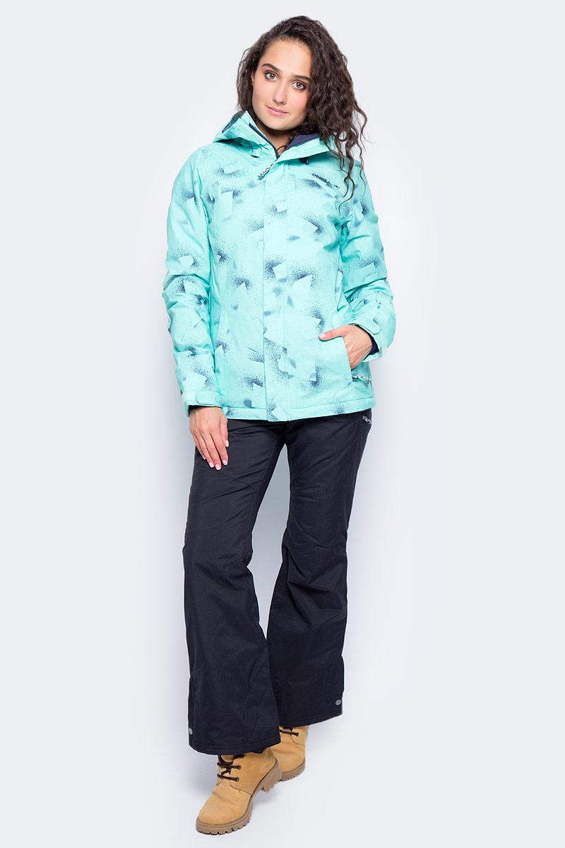 Куртка женская ONeill Pw Raivac Jacket, цвет: бирюзовый. 7P8610-6990. Размер S (44/46)7P8610-6990Женская куртка от ONeill с утеплителем выполнена из высококачественного плотного материала. Модель с длинными рукавами и втачным капюшоном застегивается на молнию и имеет ветрозащитный клапан. Куртка по бокам дополнена втачными карманами на молниях. Рукава по низу имеют регулируемые хлястики на липучках.