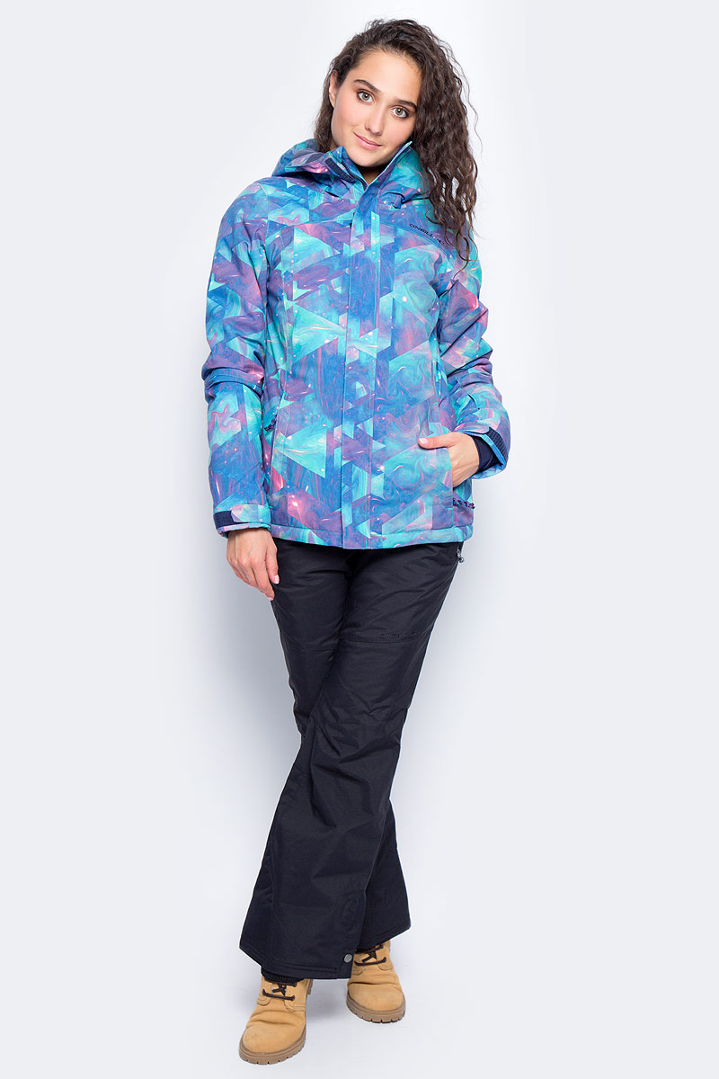 Куртка женская ONeill Pw Raivac Jacket, цвет: голубой, сиреневый. 7P8610-5950. Размер XL (50/52)7P8610-5950Женская куртка от ONeill с утеплителем выполнена из высококачественного плотного материала. Модель с длинными рукавами и втачным капюшоном застегивается на молнию и имеет ветрозащитный клапан. Куртка по бокам дополнена втачными карманами на молниях. Рукава по низу имеют регулируемые хлястики на липучках.