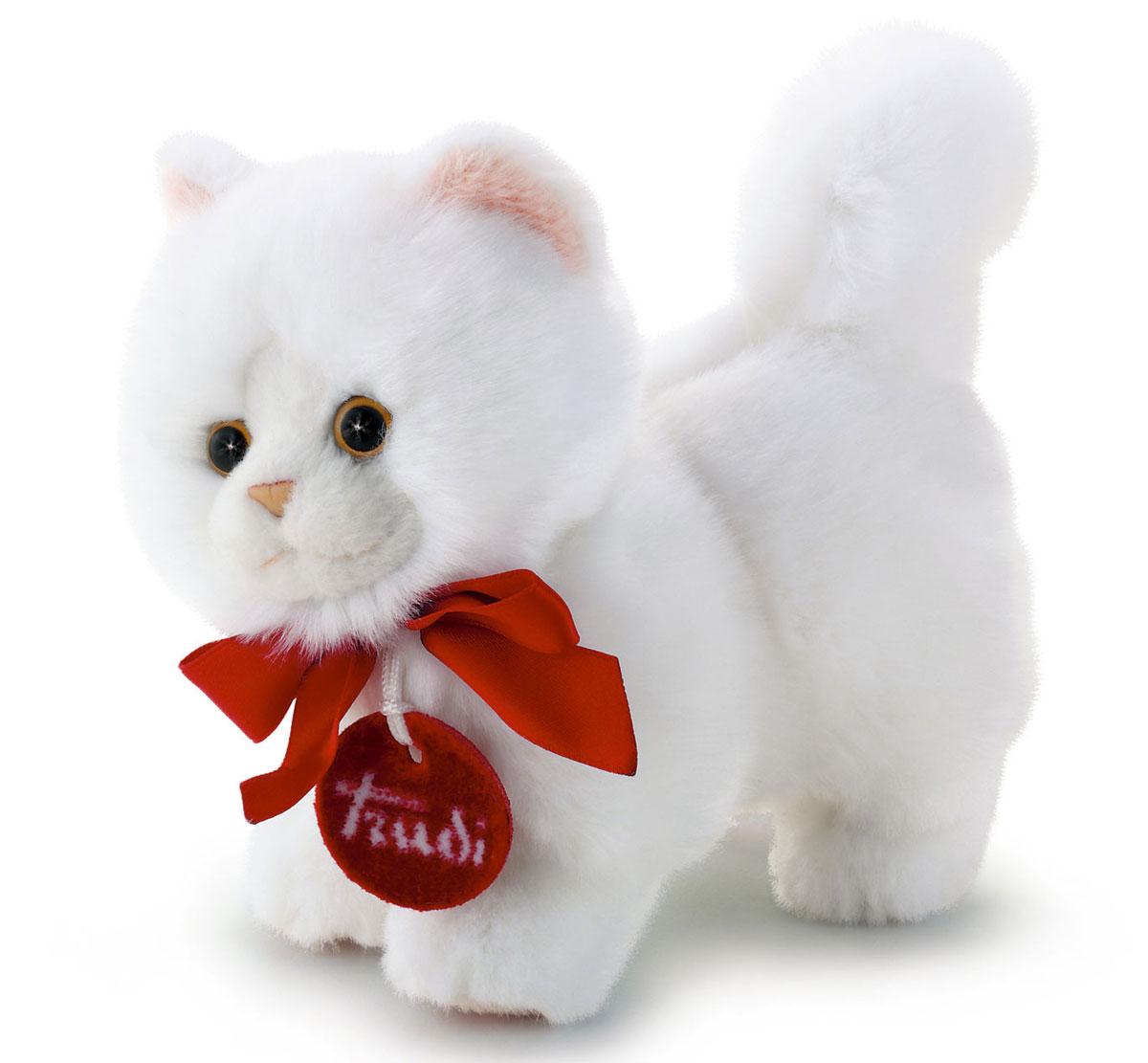 Trudi Мягкая игрушка Белая кошечка делюкс 15 см мягкие игрушки trudi лайка маркус 34 см