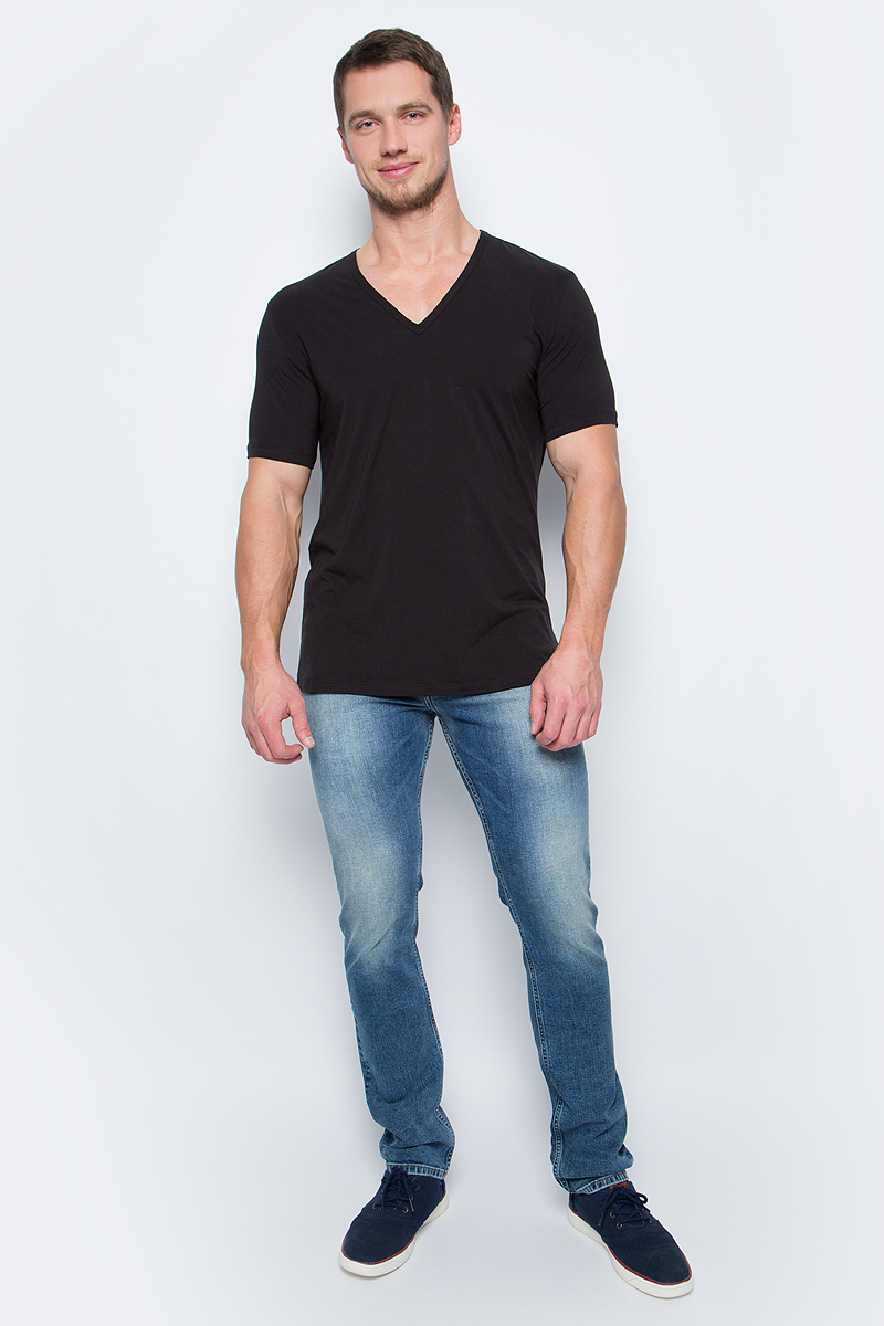 Футболка мужская Calvin Klein Jeans, цвет: черный. NB1336A_001. Размер XL (54) футболка calvin klein jeans calvin klein jeans ca939ewuhm56