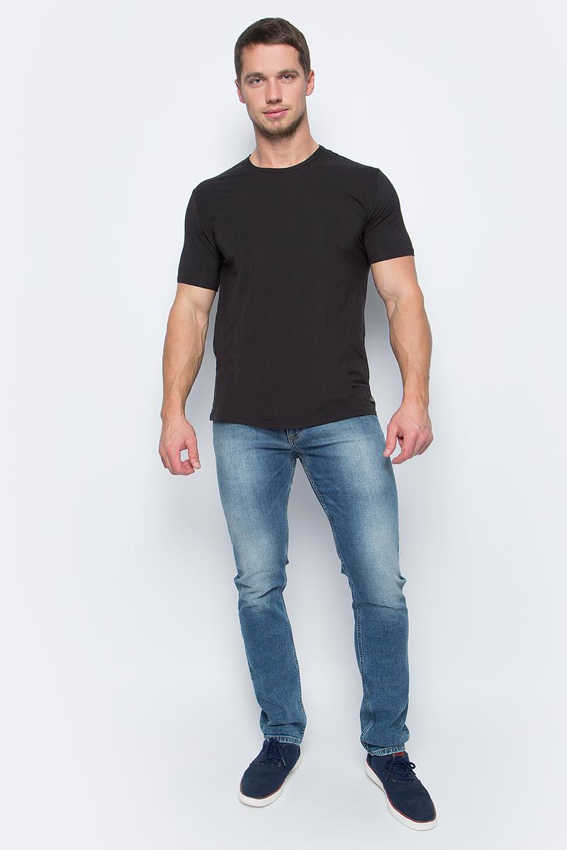 Футболка мужская Calvin Klein Jeans, цвет: черный. NB1332A_001. Размер M (48) футболка calvin klein jeans calvin klein jeans ca939ewuhm56