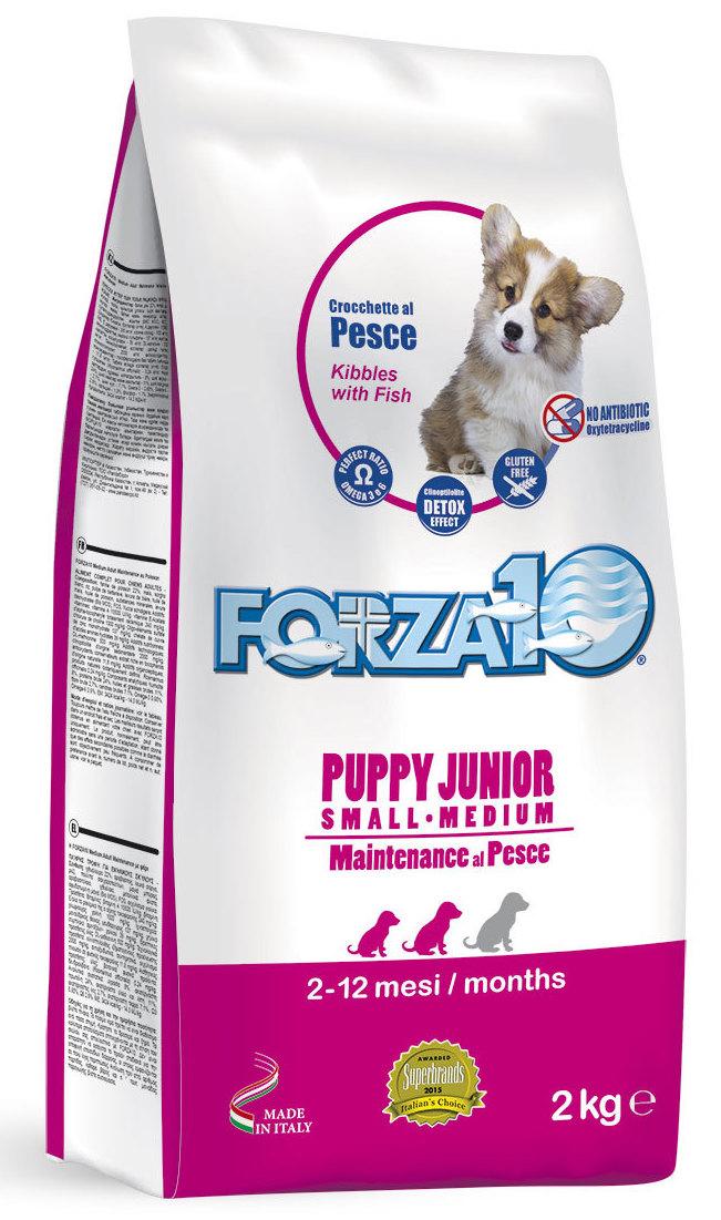 Корм сухой Forza10 Maintenance для щенков мелких и средних пород с 2,5 месяцев, для собак в период беременности и лактации, с рыбой, 2 кг0102012Корм из рыбы для щенков мелких/средних пород (с 2,5 мес.), также для сук в период беременности и лактации. Монобелковый. Щенкам в период активного роста, щенкам с чувствительным пищеварением, для профилактики и лечения дисбактериоза, для формирования нормальной бактериальной флоры кишечника.