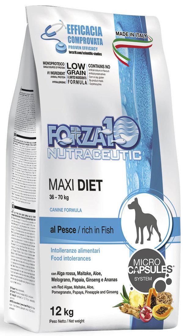 Корм сухой Forza10  Diet  для взрослых собак крупных пород, с океанической рыбой с микрокапсулами, 12 кг - Корма и лакомства