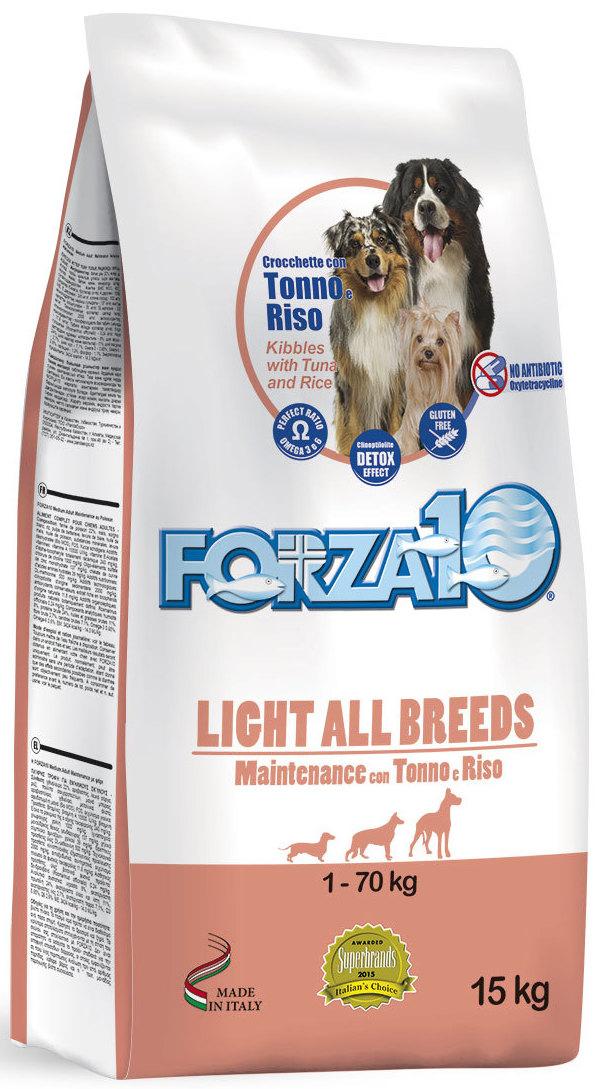 Корм сухой Forza10 Maintenance для взрослых собак всех пород, склонных к полноте, 15 кг0105015