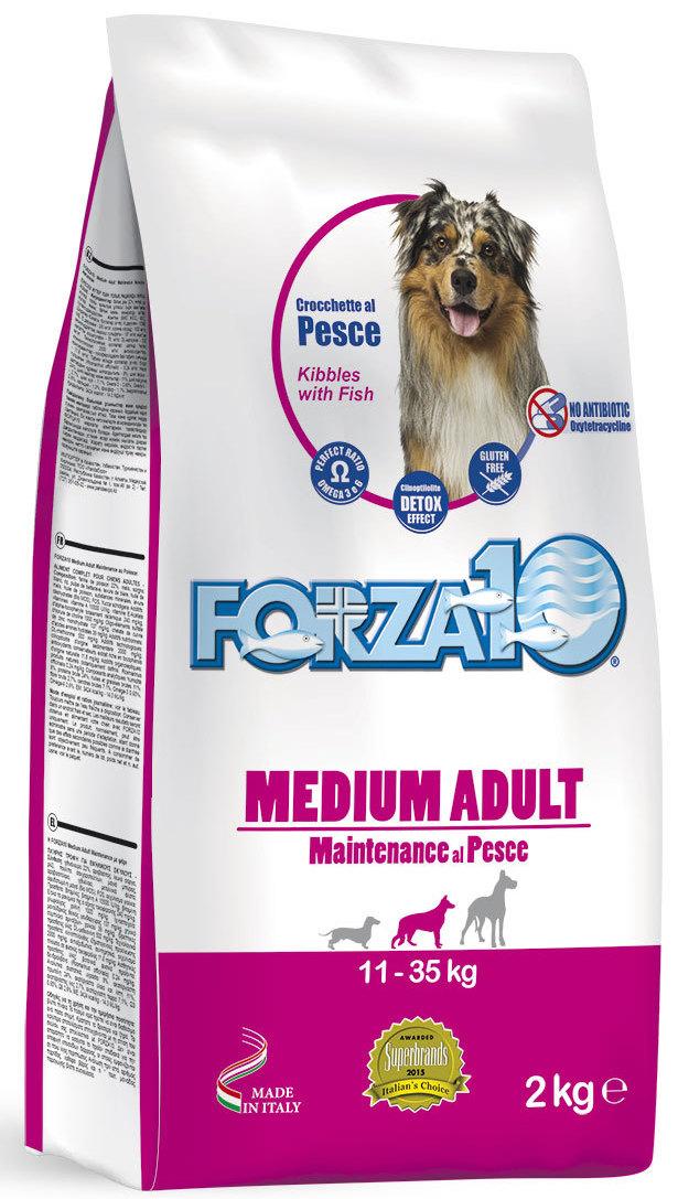 Корм сухой Forza10  Maintenance  для взрослых собак средних пород, с треской, голубым тунцом и лососем, 2 кг - Корма и лакомства