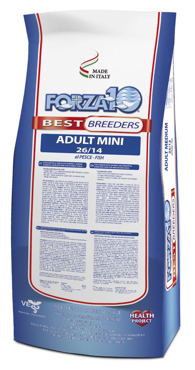 Корм сухой Forza 10 Best Breeders для взрослых собак мелких пород, с треской, голубым тунцом и лососем, 20 кг0109025Корм для взрослых собак мелких пород из трески, голубого тунца и лосося. Монобелковый, полнорационный, гипоаллергенный. Повседневный корм, позволит вашей собаке оставаться в отличной форме, включая собак, которые не выходят на улицу. Особая формула Омега 3:6 обеспечит эластичность кожи, блеск и фактуру красивой шерсти! МОС и ФОС поддерживают иммунитет и здоровье пищеварительного тракта. Для нормализации состояния кожи и шерсти собак с различными нарушениями пищеварения, склонностью к раздражению кожи, аллергиям.
