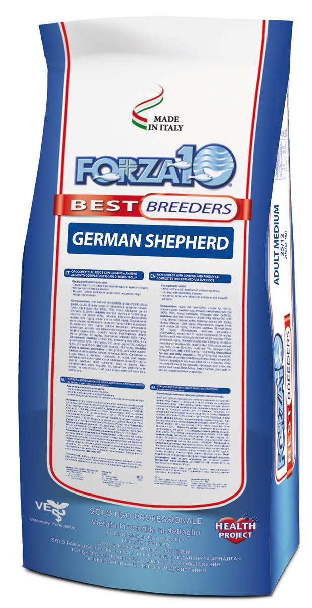Корм сухой Forza 10 Best Breeders, для взрослых собак породы немецкая овчарка, 20 кг0109036Forza 10 Best Breeders - специализированный корм для взрослых собак породы немецкая овчарка. Для собак, склонных к расстройствам пищеварения; поддержания прекрасного состояния кожи и шерсти; профилактика патологий опорно-двигательного аппарата.Состав: гранулы сухого корма; кукуруза; рыбная мука (16%), обработанные белки курицы (14,5%), куриный жир, пивные дрожжи, рыбий жир,минеральные вещества, пульпа свеклы, дегидратированные дрожжи (Био МОС), ФОС, юкка Шидигера.Рекомендации по кормлению: Обеспечьте вашего питомца достаточным количеством свежей воды.