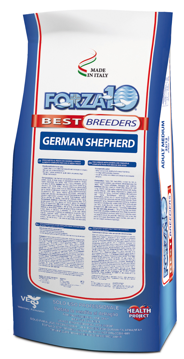 Корм сухой Forza 10  Best Breeders  для взрослых собак породы немецкая овчарка, 20 кг