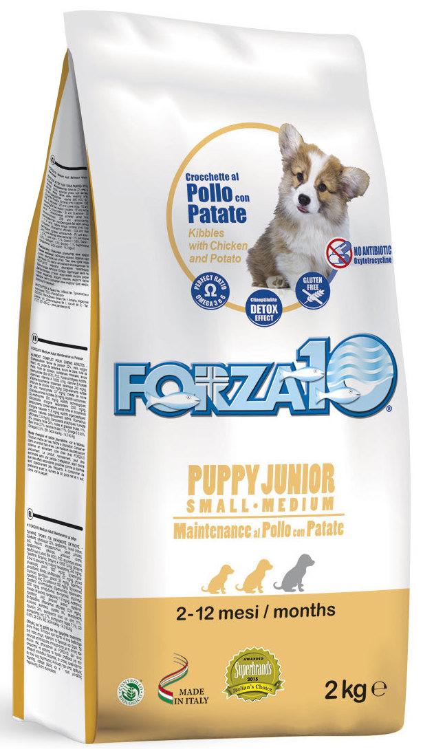 Корм сухой Forza10 Maintenance, для щенков средних и крупных пород с 2,5 месяцев, для собак в период беременности и лактации, с курицей и картофелем, 2 кг0115002Корм из курицы и картофеля для щенков средних /крупных пород (с 2,5 мес.), также для сук в период беременности и лактации. Для гармоничного и уравновешенного роста, содержит ценные белки.